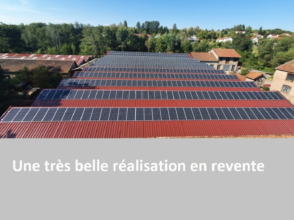 Réalisation d'une installation photovoltaïque avec rachat d'électricité