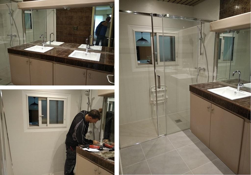 Vente installation douche PMR complète GUIDEL