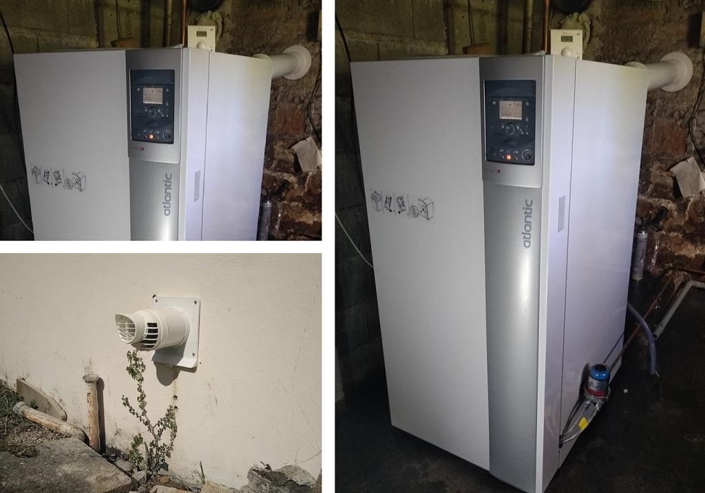 vente installation chaudière fuel condensation ventouse MOELAN SUR MER