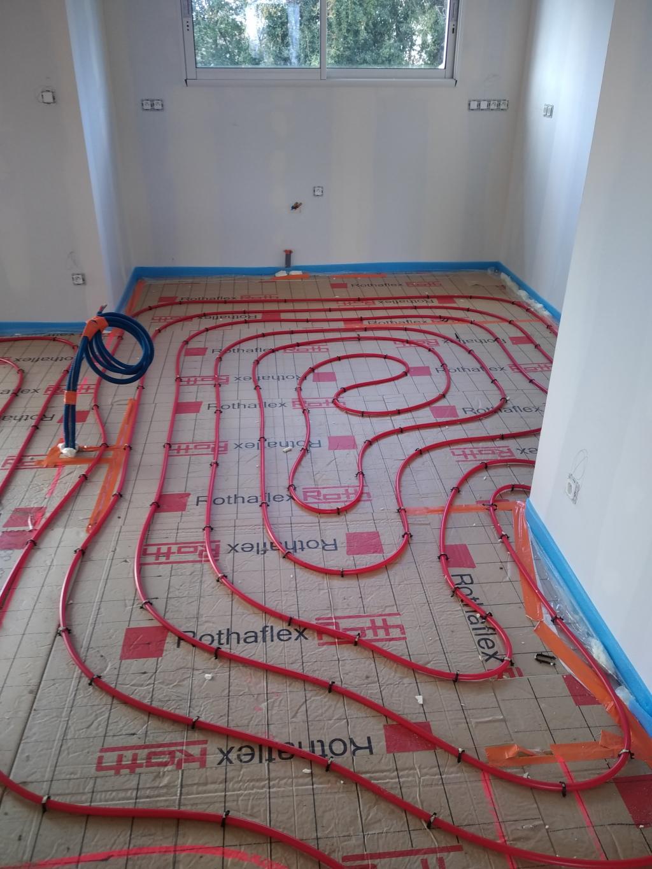 Fourniture et pose plancher chauffant 110m² sur construction neuve