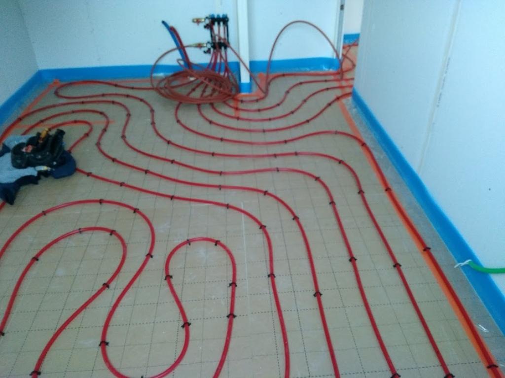 vente installation plancher chauffant construction neuve ploemeur MORBIHAN