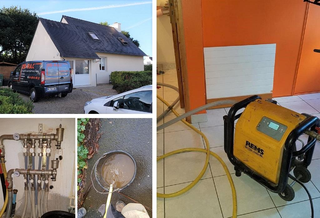 Désembouage circuit de chauffage dans le Finistère