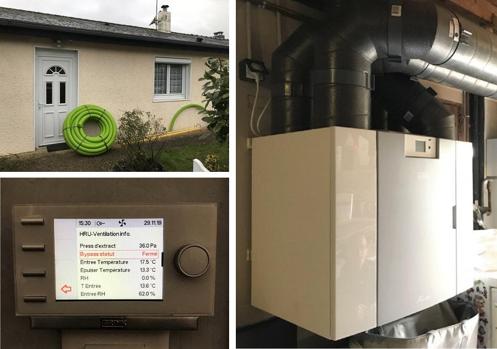 Entreprise RGE - électricité - qualité de l'air ventilation - VMC double flux Brink