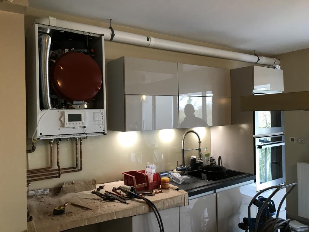 Entreprise RGE - qualigaz - Chaudière gaz murale à condensation mixte ventouse  - 35000 Rennes (35)