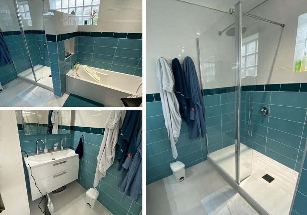 Entreprise plomberie sanitaire - rénovation salle de bain avec douche baignoire et meuble