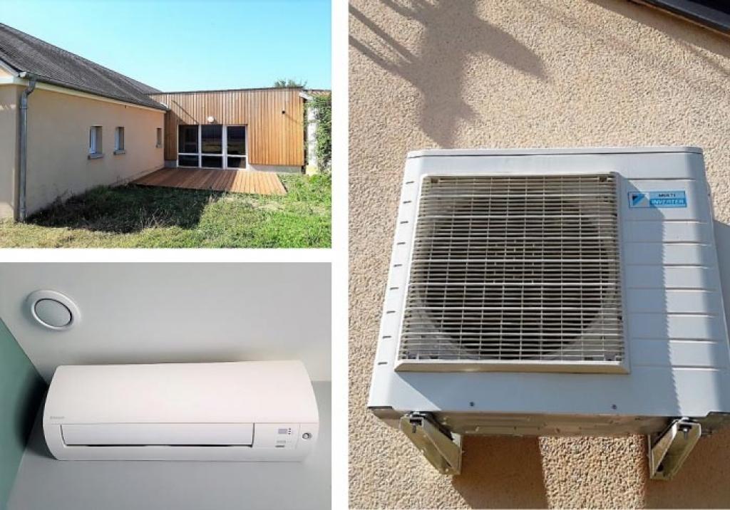 Installation d'une climatisation Daikin dans les bureaux d'une crêche