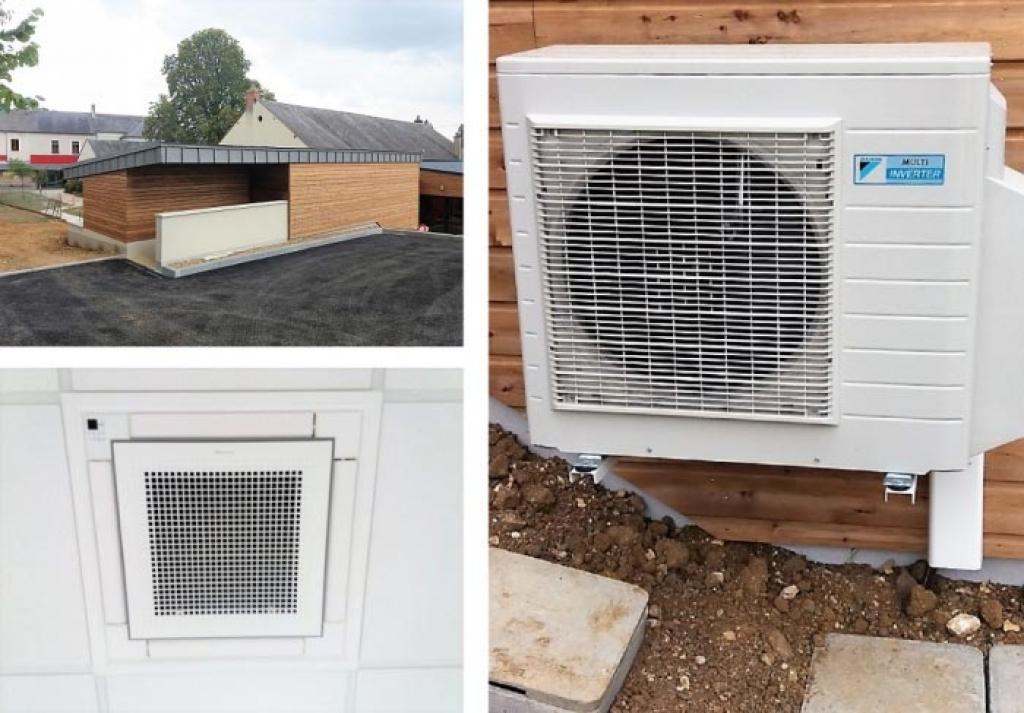 Installation d'une climatisation Daikin dans l'extension d'une crêche-Cher (18)