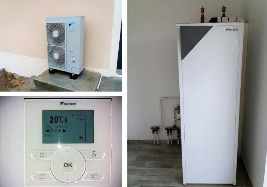 Pompe à chaleur Air eau Daikin près de Bourges