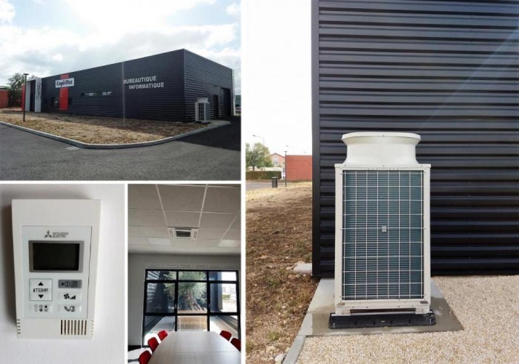 Climatisation DRV Mitsubishi Electric dans des bureaux-Cher (18)