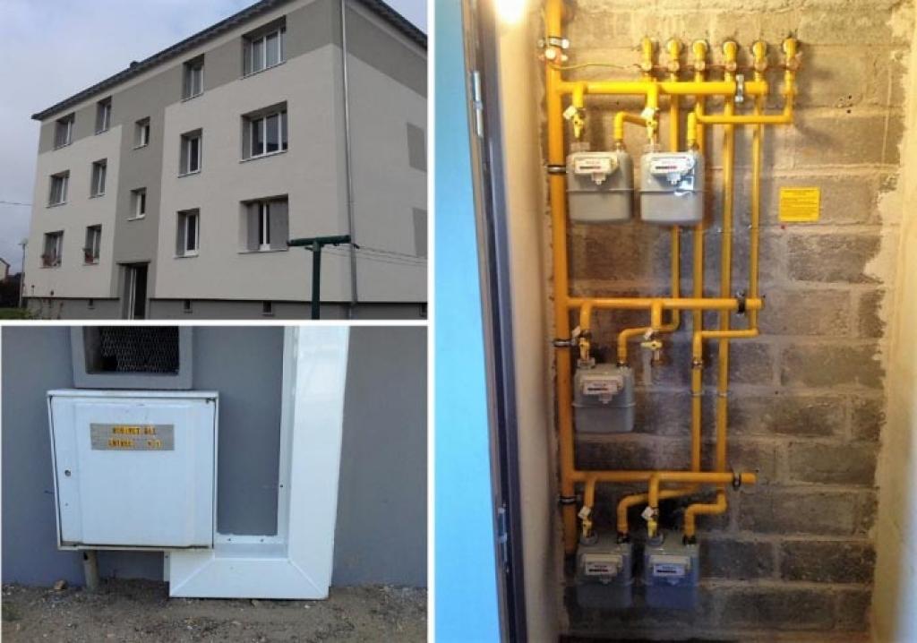 Réalisation d'un local gaz dans un bâtiment collectif à Aubigny sur Nère-Cher (18)