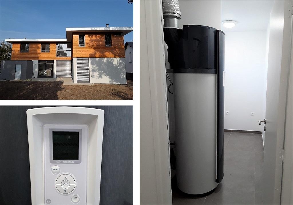 Chauffe-eau thermoddynamique Thermor Aeromax 4 dans maison neuve BBC