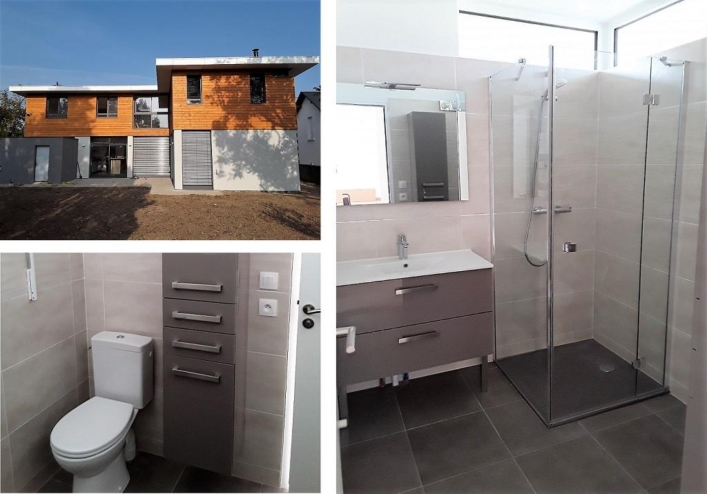 Création de 2 salles bains dans une maison neuve-Cher (18)