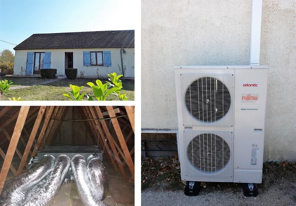 Climatisation réversible gainable en remplacement de radiateurs électriques