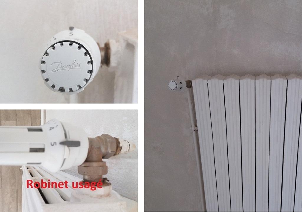 Remplacement de robinets thermostatiques de radiateur Danfoss-Cher (18)