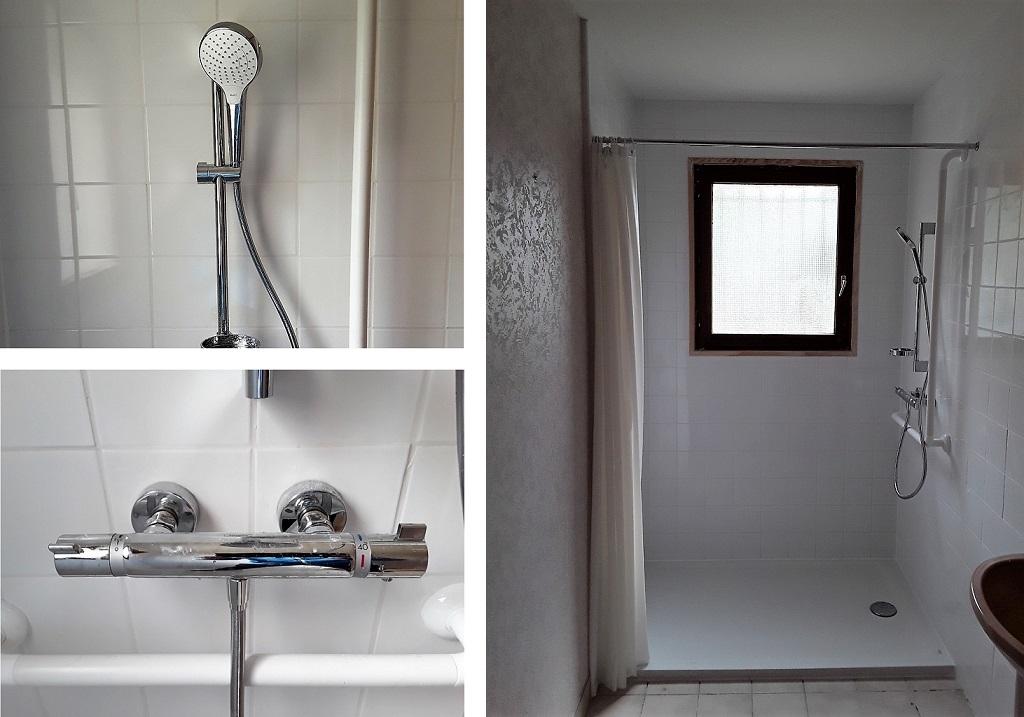 Douche à l'italienne pour personne en fauteuil roulant-Cher (18)
