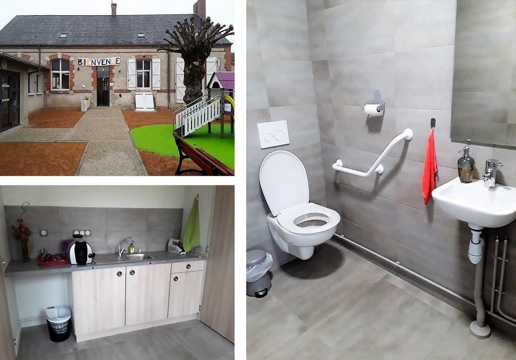 Toilette suspendu handicapé