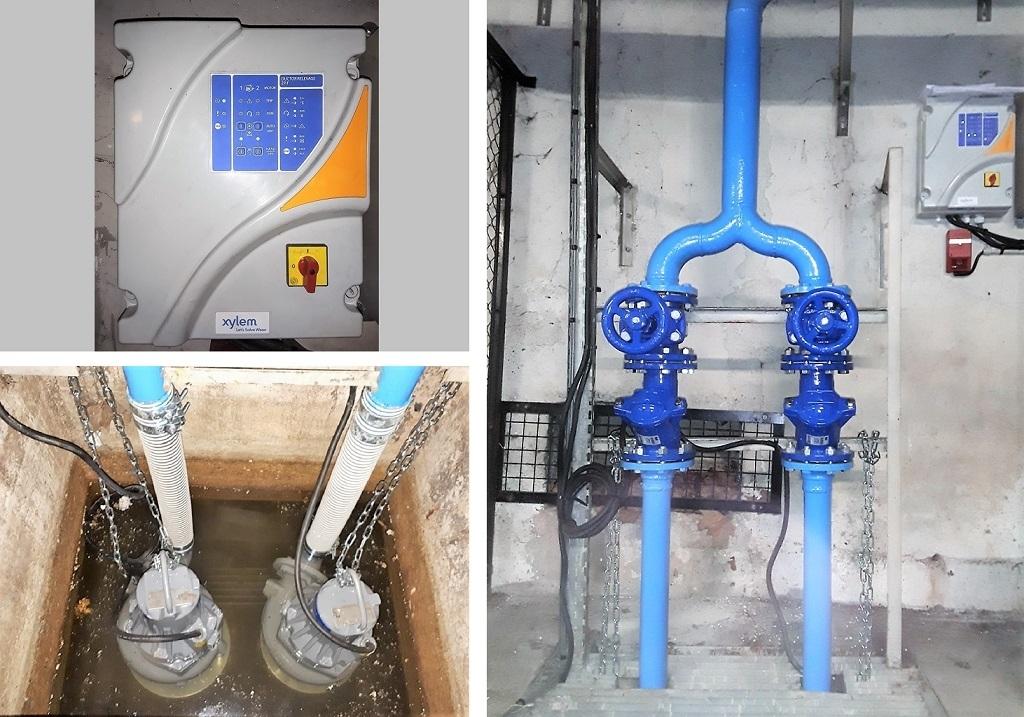 Pompe de relevage Xylem pour parking souterrain