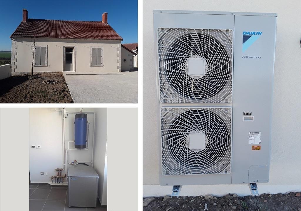 PAC air eau haute température Daikin - RGE Qualipac