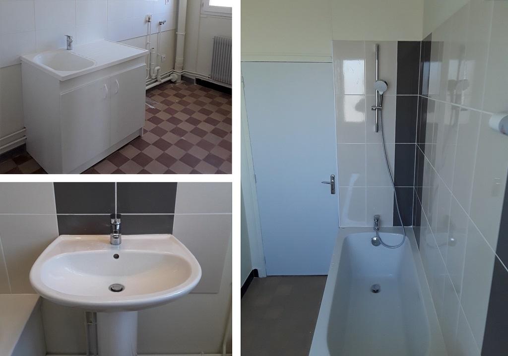 Réfection de salle de bain et cuisine en site occupé