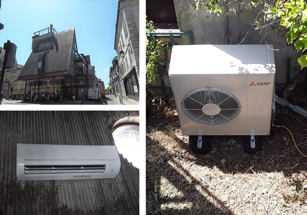 Climatisation en zone classée monument historique sur les toits de Bourges-Cher (18)
