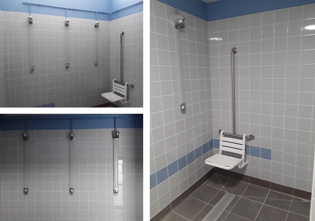 Douches Presto dans des vestiaires