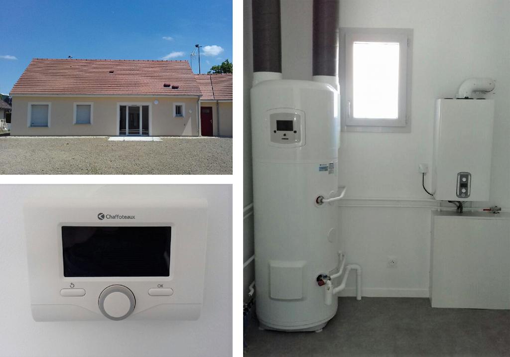 Chaudière à condensation et chauffe-eau thermodynamique Chaffoteaux et Maury