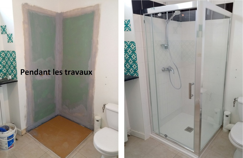 Rénovation complète d'une douche