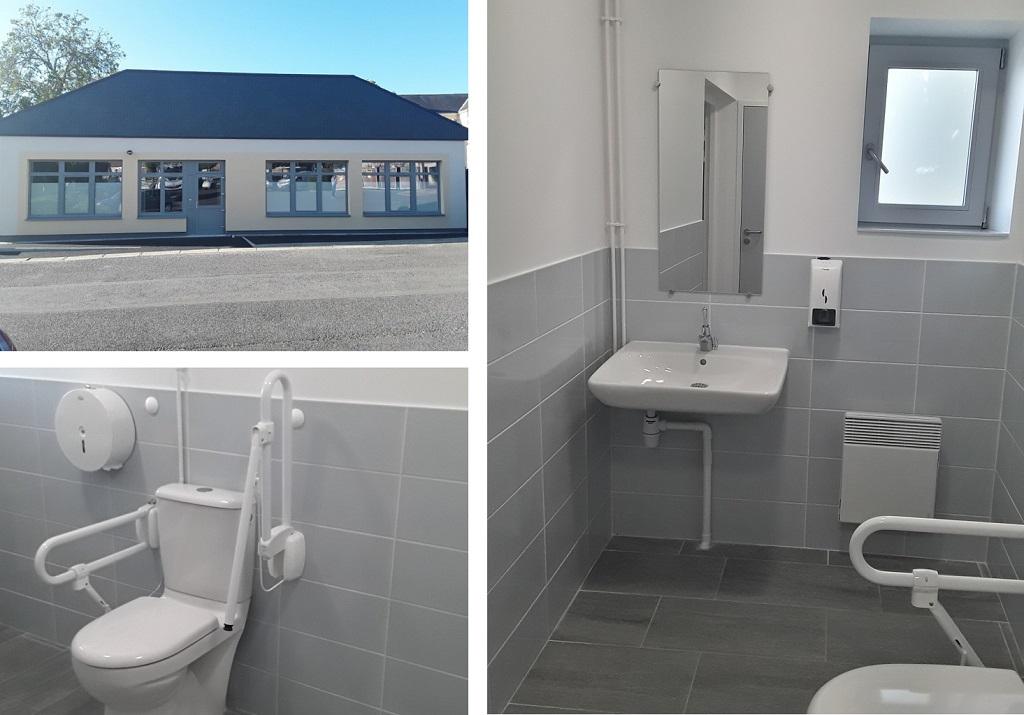 Toilette adapté aux fauteuils roulant