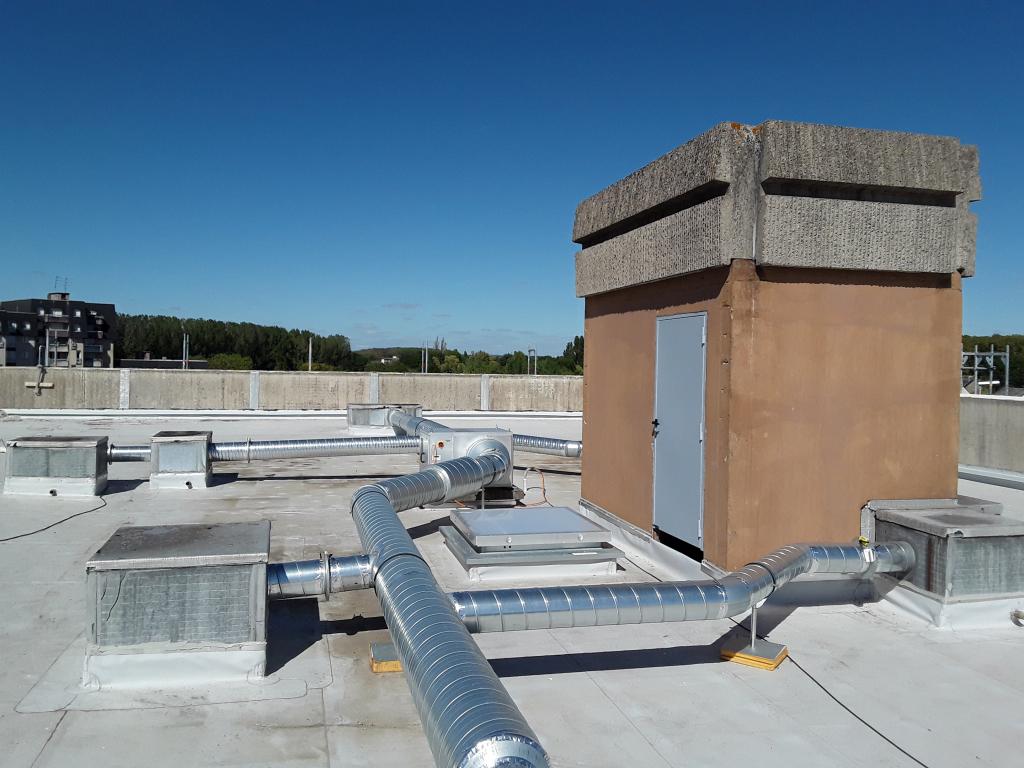 Ventilation sur toit terrasse