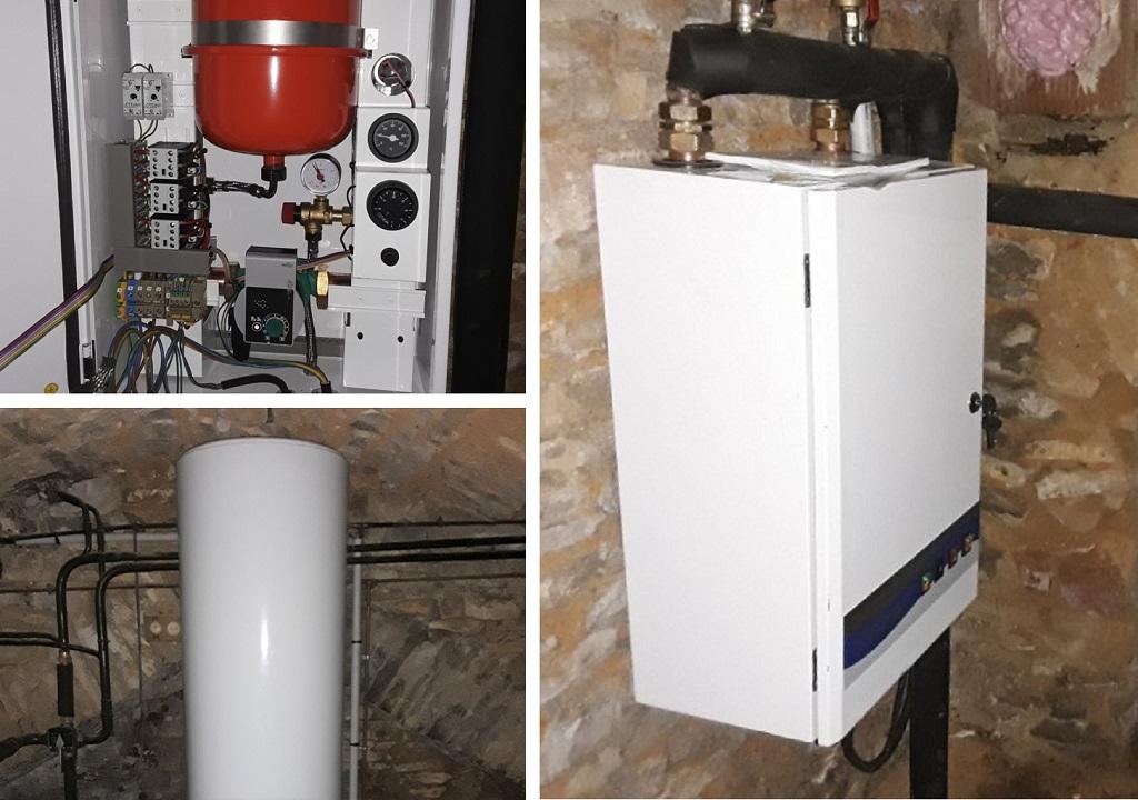 Chaudière électrique Gretel et chauffe-eau électrique