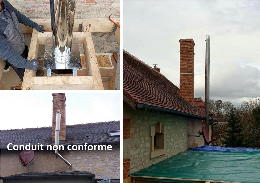 Mise aux normes d'une cheminée