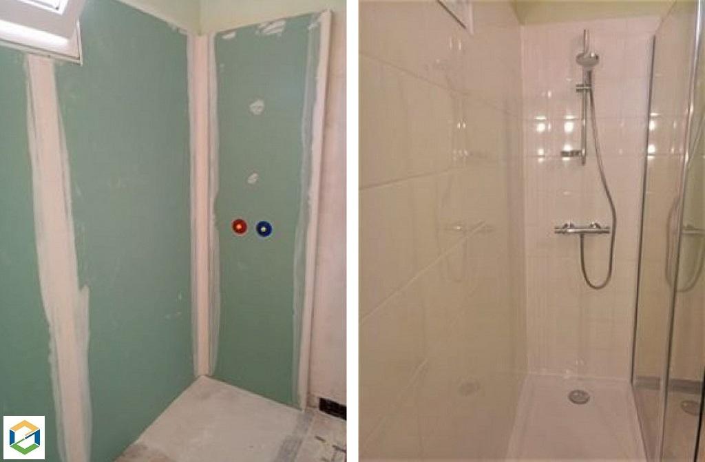 Création d'une douche à la place d'une baignoire-Cher (18)