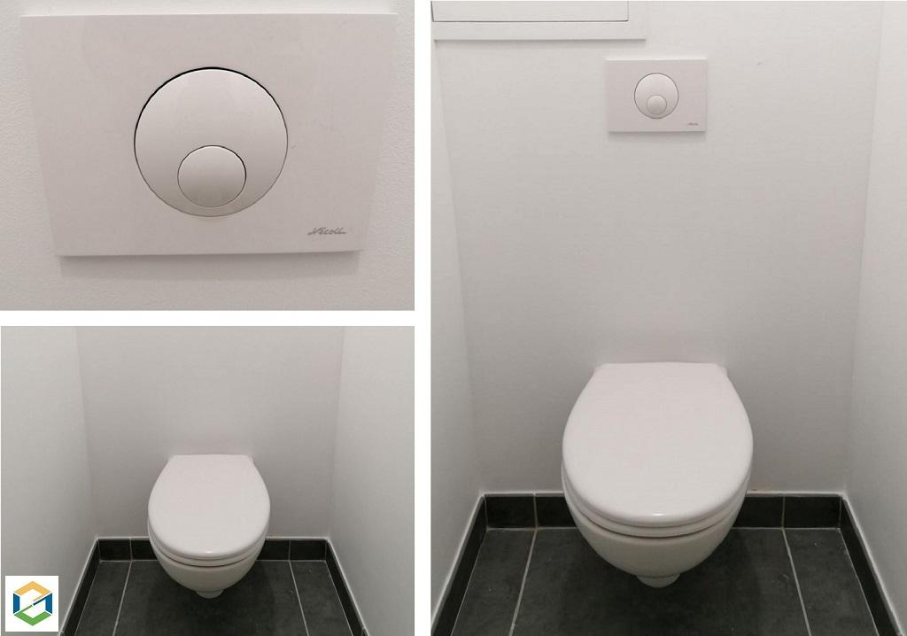 Toilette suspendu sans bride