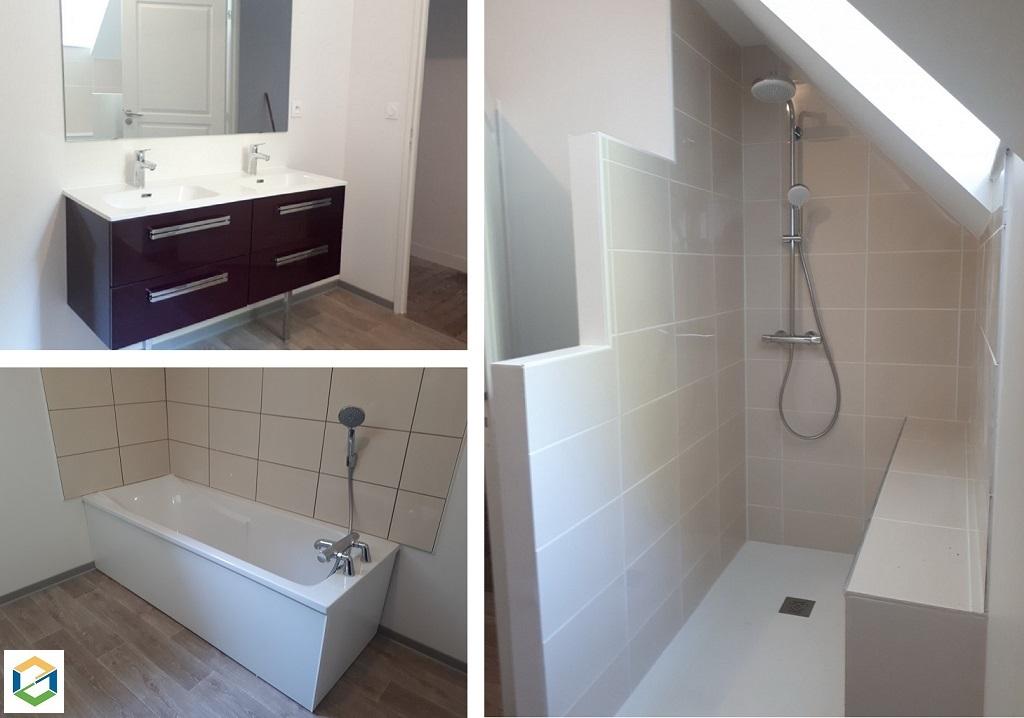 Salle de bain moderne clé en main