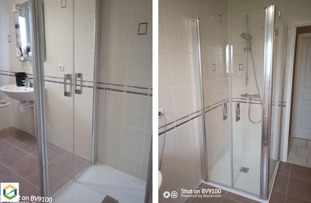 Remplacement d'une douche