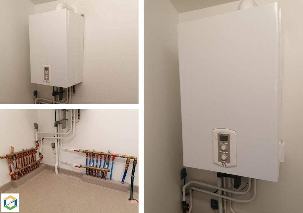 Installation chaudière gaz à condensation Chaffoteaux et Maury