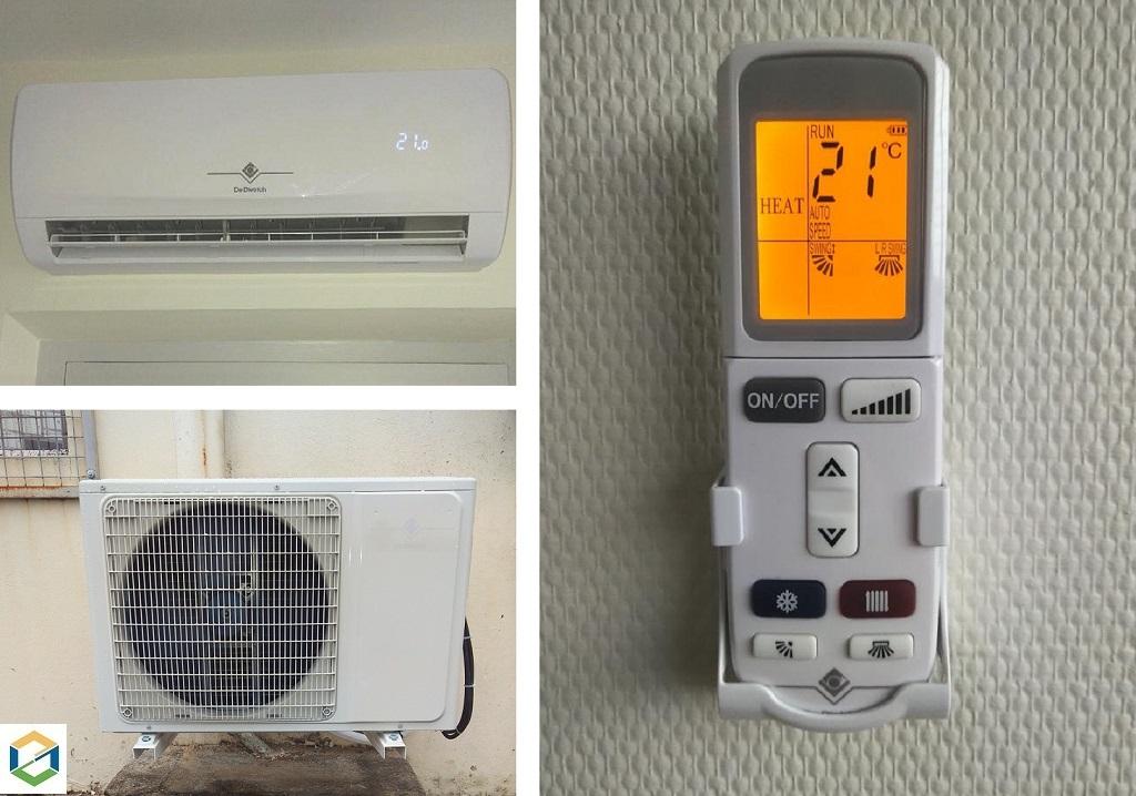 Installation d'un climatisation réversible air/air De Dietrich