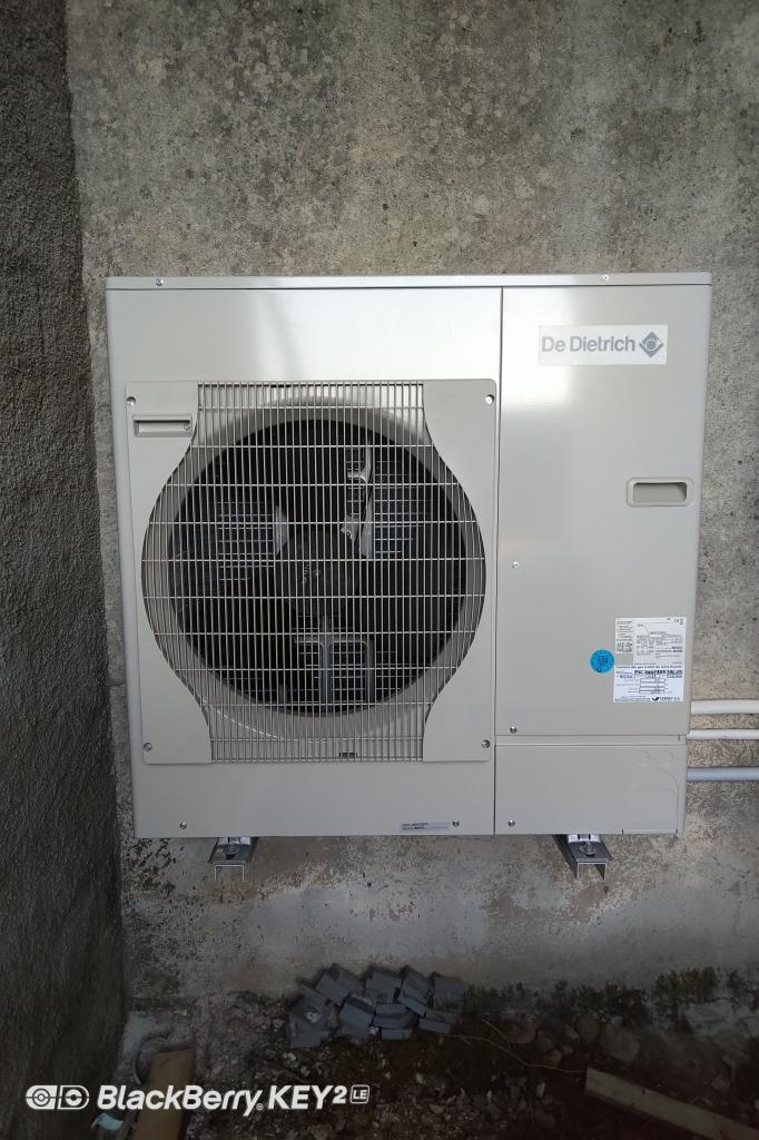 Installation PAC(Pompe A Chaleur) AIR/EAU De Dietrich
