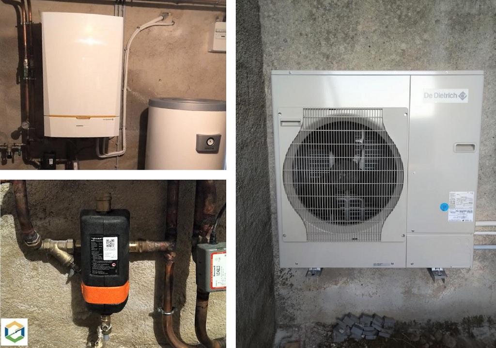 Installation PAC (Pompe A Chaleur) AIR/EAU De Dietrich