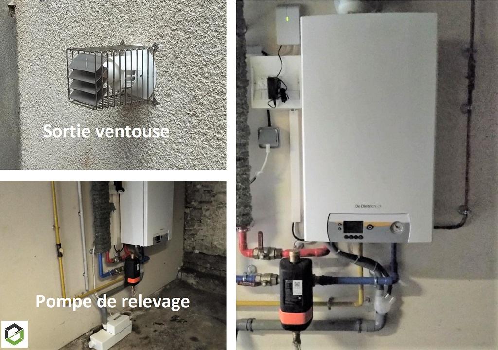 Remplacement chaudière gaz basse température par une chaudière gaz à Condensation DE DIETRICH