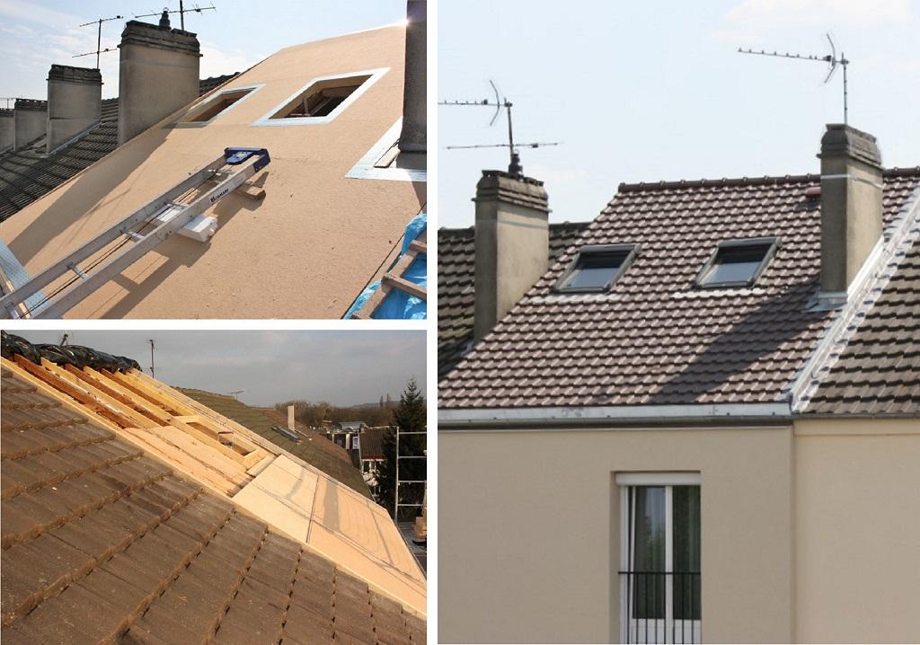 Isolation d'une toiture par l'extérieur (sarking)