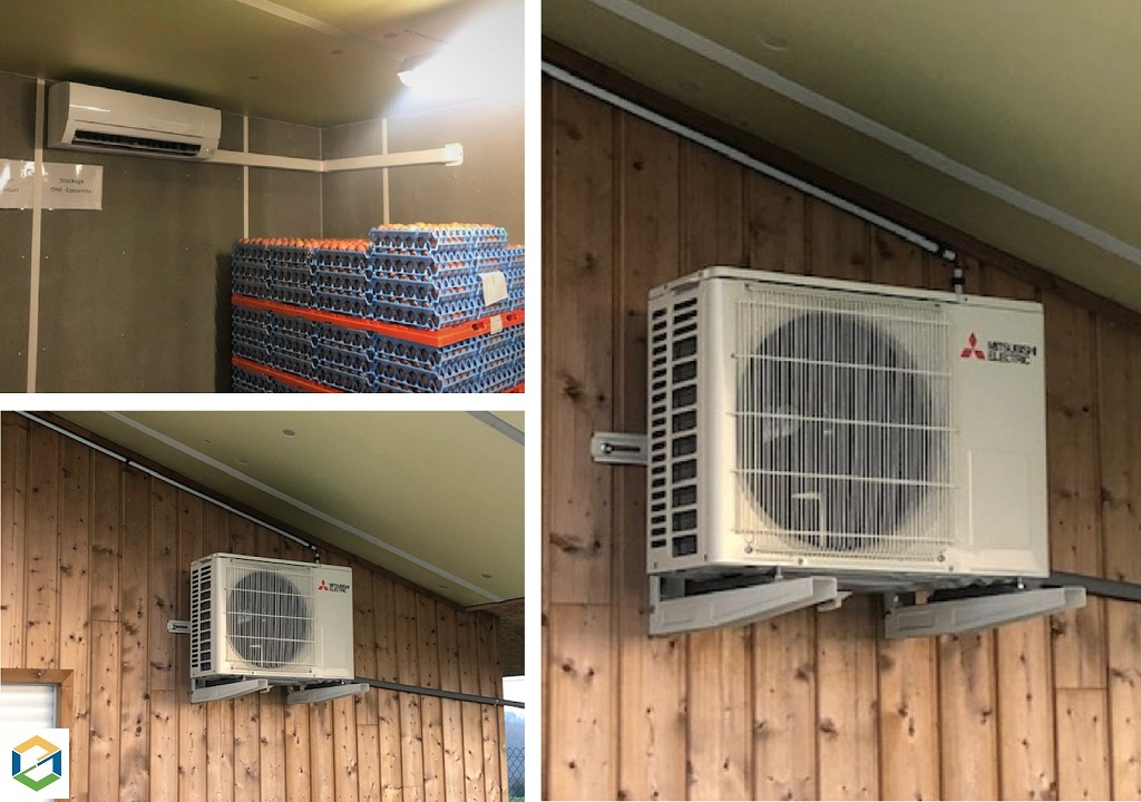 INSTALLATION PAC AIR/AIR MITSUBISHI ELECTRIC