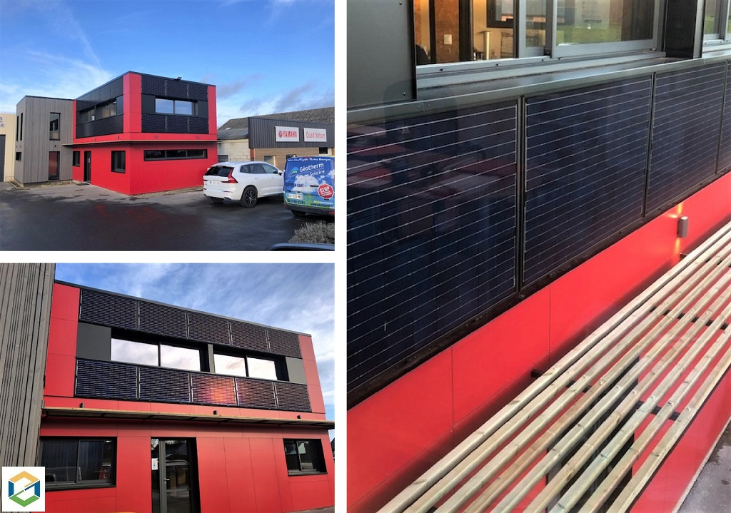 Installation panneaux solaire photovoltaïque pose en facade puissance 6kwc
