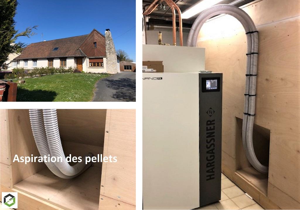 Chaudière granulés de bois pellets HARGASSNER type NANO PK 15-Pas de Calais (62)