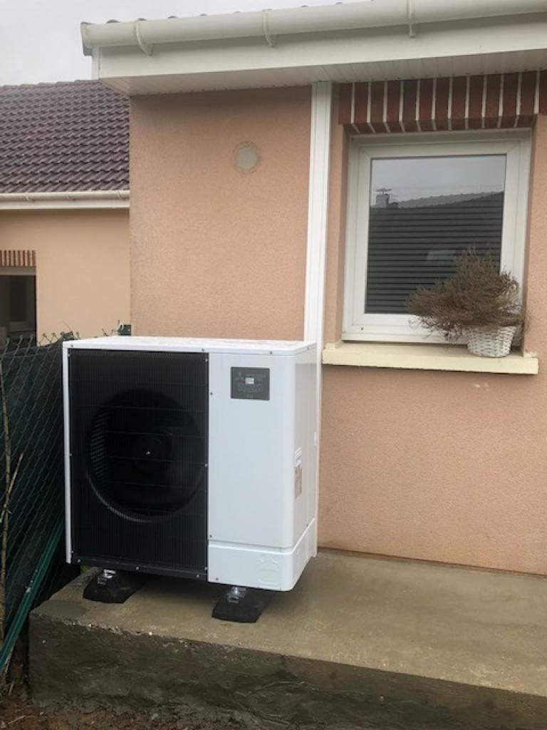 Installation PAC Air-Eau 8 kW Mitsubishi Electric dans le pas de calais-Pas de Calais (62)