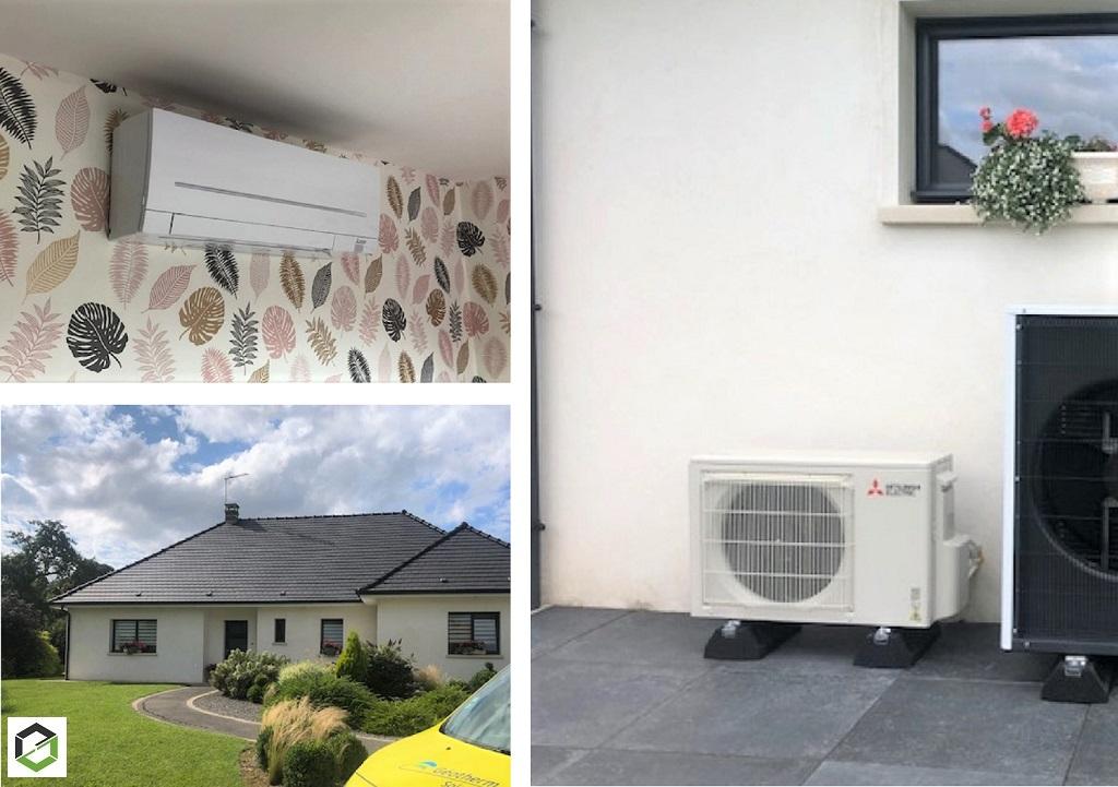 Installation Pompe a chaleur air/air (climatisation) réversible Mitsubishi Electric