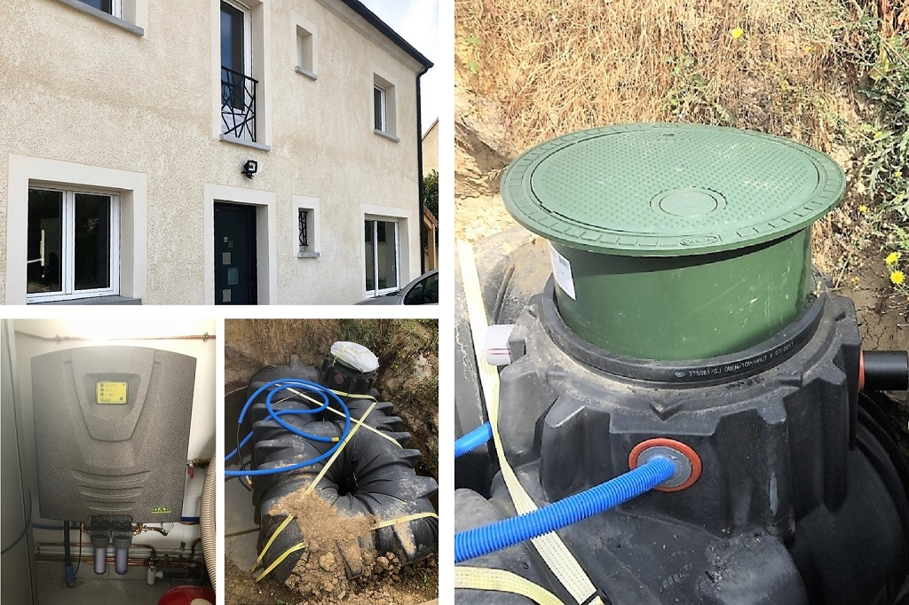 Cuve de récupération d'eau de pluie à Maurepas 78 Yvelines
