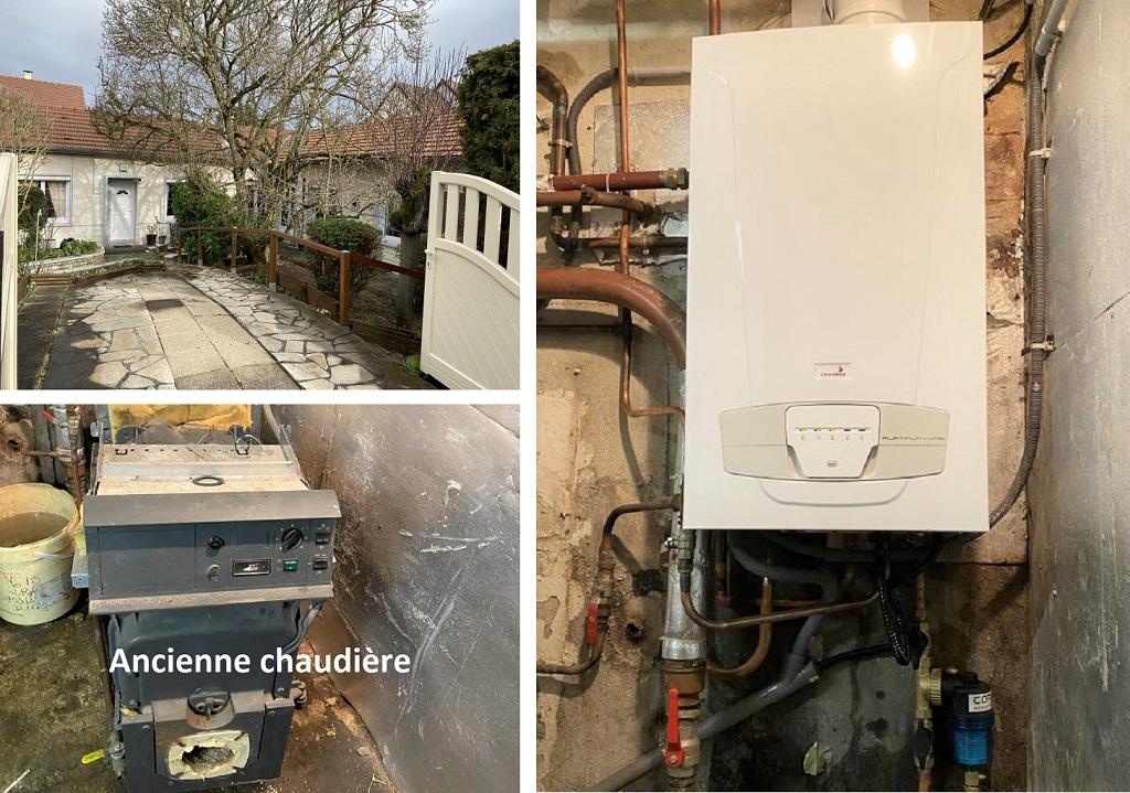 RGE Eco Artisan Installation d'une chaudière gaz condensation Chappée Luna Platinum 91 Essonnes