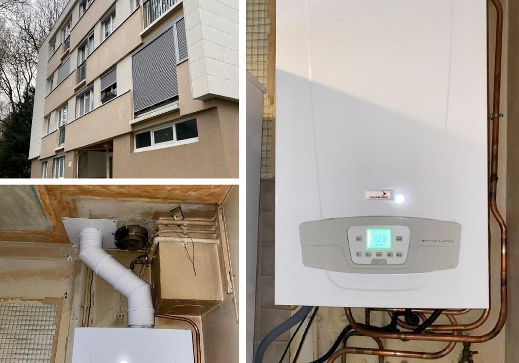 RGE Eco Artisan Installation d'une chaudière gaz condensation Chappée Initia plus HTE 91 Essonnes