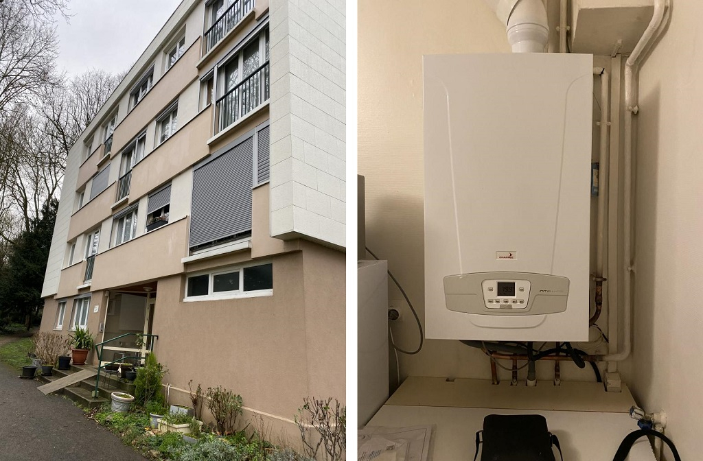 RGE Eco Artisan Installation d'une chaudière gaz condensation Chappée Initia plus HTE 91 Essonnes -Essonne (91)